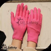 SRSAFETY 13 калибра розовый нейлон / полиэстер лучшие внутренние вкладыши перчатки