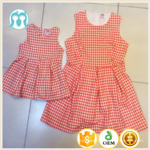 2016 summer new fashion mother and daughter matching dress clothing sets design