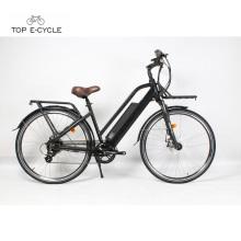 Bicicleta elétrica da bicicleta do motor do cubo da parte traseira de 36v Bafang 250w com bateria de panasonic