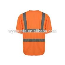 ENISO 20471norm отражающие футболки, высокая видимость 100% полиэфирная сетчатая ткань с индивидуальными защитными жилетами