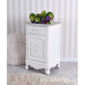 Nightstand Shabby Chic Night Table Wardrobe White Bedside Table Night Console