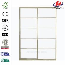 72 in. x 81 in. Silhouette 5 Lite Aluminum Satin Clear Finish Interior Sliding Door