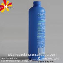 Botella de loción HDPE azul de 250 ml