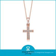 Позолоченные крест ожерелье (SH-N0173)