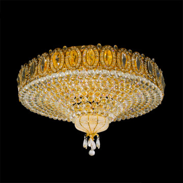 Crystal large luxurious round crystal ceiling light