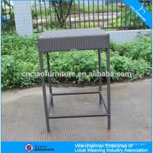 Garden wicker bar furniture fishbone weaving high bar table for sale