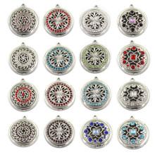 30mm Silver Fashion Custom Jewelry Essential Oil Locket Pendant