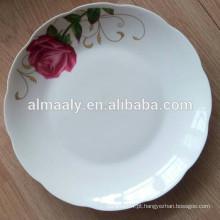prato de frutas brancas de porcelana fina, prato de jantar