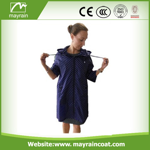 Ladies' Polyester with Waterproof Coating Raincoat