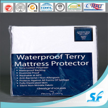 Lavable a máquina Terry impermeable anti bacterias colchón protector