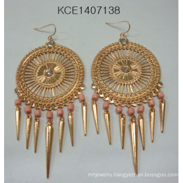 Fashion Tassel Earring with Metal for Fashion Lady