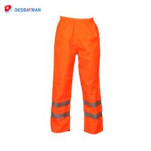 2018 Nuevos Productos Baratos Pantalones de Trabajo Pantalones de Seguridad Pantalones Usados Hi-vis Pantalones de Trabajo Cinta Reflectante