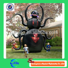 8 feet black color inflatable spider para la venta