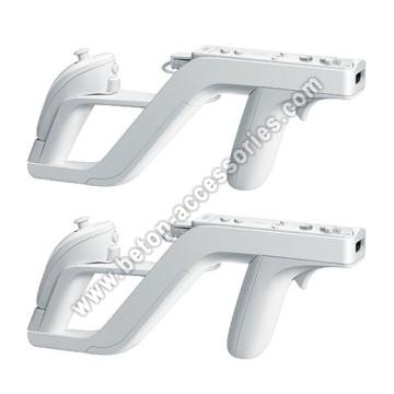 Blanco Zapper pistola para Nintendo Wii mando Wiimote