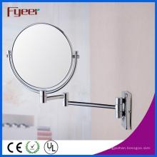 Fyeer Moda Rodada Dobrável Maquiagem Espelho Decrativo Espelho Parede
