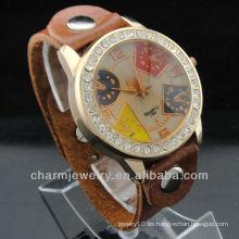 2015 venta caliente reloj único WL-032 de cuero genuino de diseño
