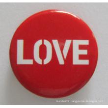 Silkscreen Print Tin Button Badge for Love (button badge-42)