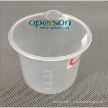 Tasse en plastique médicale jetable