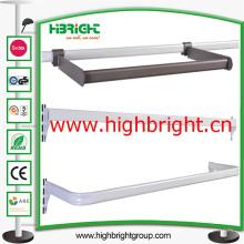 Support acier Tube métal suspendus barre barre en acier pour étagères