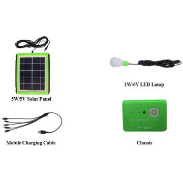 Kit de iluminación solar 3.7V8000mAh Li-ion