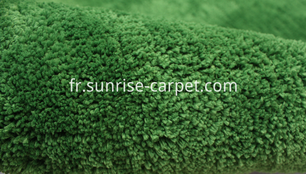 Microfiber Soft Shaggy With Solid Color Green