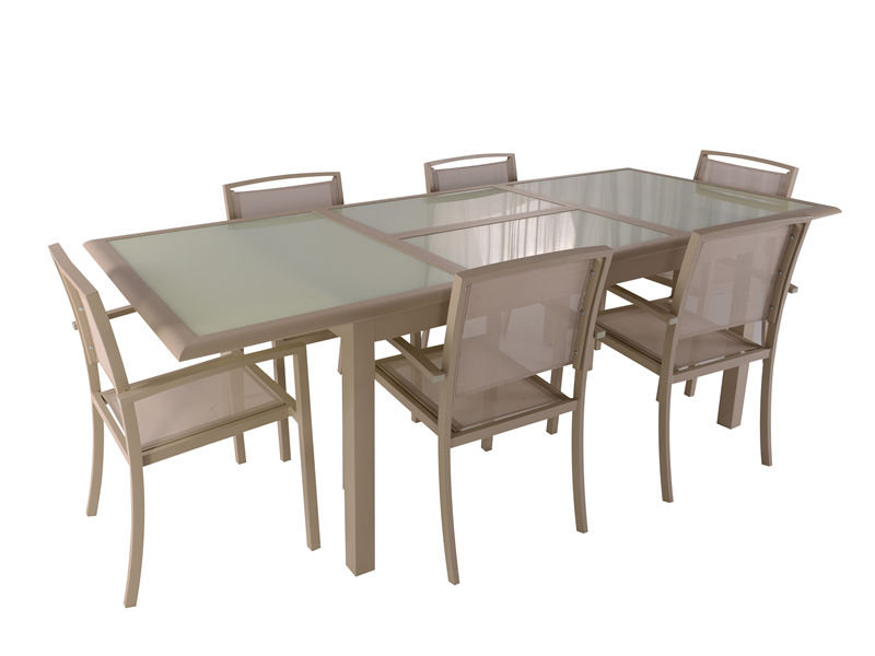 7pc aluminum extension dining set S1801