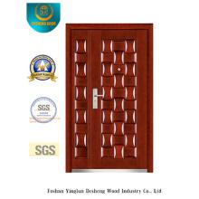 Klassischer Stil Sicherheit zwei Türen für Außen (b-3025)