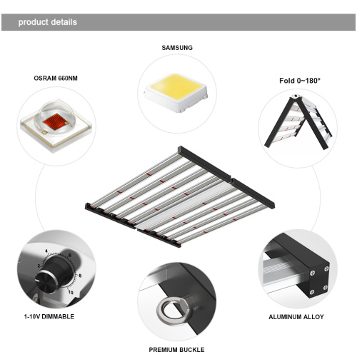 Sunlike Phlizon LED Grow Light plegable 640W
