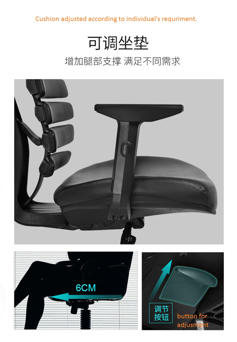 boss high back leatherplus office chair with armrests