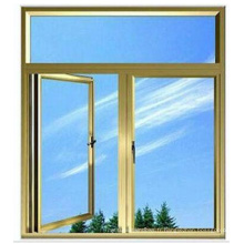Fenêtre à double vitrage en aluminium trempé trempé