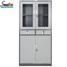 2018 hot sale luoyang factory glass two door office used steel filing cabinet