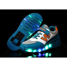 Children Retractbale Flashing Roller Skate Shoes