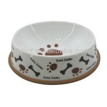 Супер белая керамическая миска для собаки