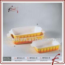 Plat de cuisson à porcelaine rectangulaire