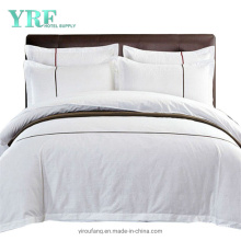 Luxurious Cotton Embroidery Logo Cal King White Hotel Linen