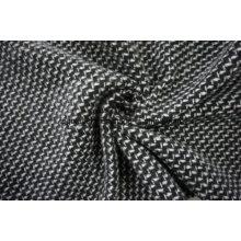 Black & White Wool Fabric Weave