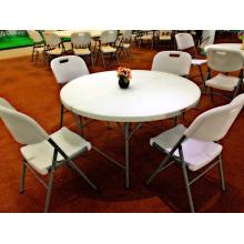 4ft Plastic Folding Half Moon Dining Table
