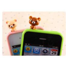 Mini PVC Figura Anti Poeira Plug para Telefone Celular Acessórios