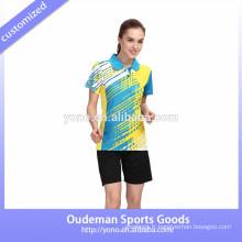 Maillots de sport badminton hign qualité badminton, unisexe badminton jersey pour jeunes