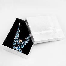 Жесткое картонное ожерелье jewerly подарочная коробка