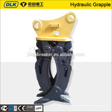 Fixed log grapple for excavator without rotating motor for sale