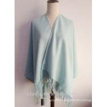 Fashion women plain winter poncho shawl