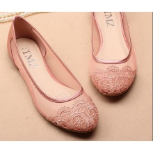 Women Light Mesh Breathable Shoes Embroidery patch Round