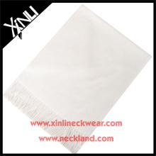 2015 novo produto personalizado homens moda lenço de seda branco