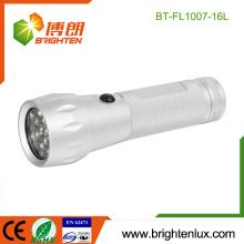 Fabrik nach Maß Gehäuse 3 * AAA Batterie benutzt silberne Farbe helles Aluminiummetall 16 führte beste preiswerte Taschenlampe