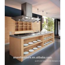 Gabinete de cocina de madera moderna del diseño italiano