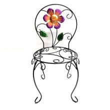 Hot Selling Garden Decoration Metal Chair Flowerpot Stand