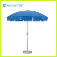 Parasol extérieur bleu en aluminium