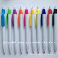Cheap White Color Promotional Pen (P1046A)