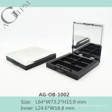 Четыре сетки прямоугольные Eye Shadow дело с зеркало AG-OB-1002, AGPM косметической упаковки, Эмблема цветов